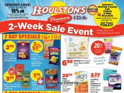Roulston's Pharmacy Outdated Flyer Thumbnail
