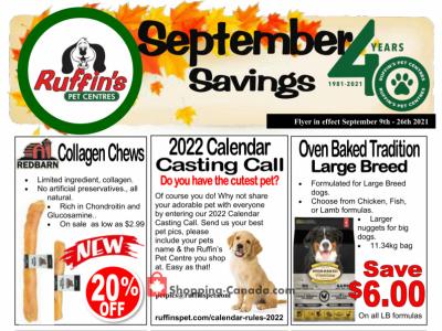 Ruffin's Pet Centre Flyer Thumbnail