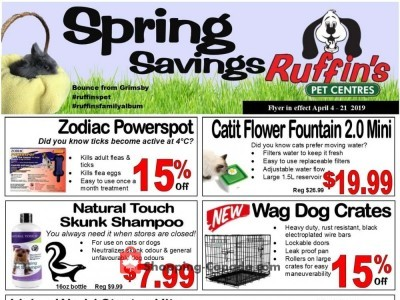 Ruffin's Pet Centre Outdated Flyer Thumbnail