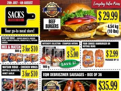 Sack Food Co. Flyer Thumbnail