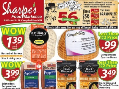 Sharpe's Food Market Outdated Flyer Thumbnail