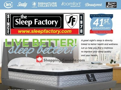 Sleep Factory Outdated Flyer Thumbnail