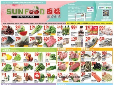 Sunfood Supermarket Outdated Flyer Thumbnail