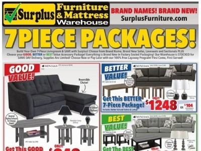 Surplus Furniture And Mattress Store Flyer Thumbnail