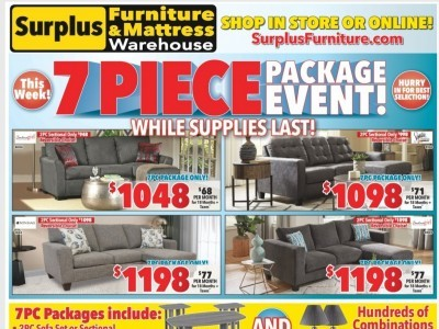 Surplus Furniture And Mattress Store Outdated Flyer Thumbnail