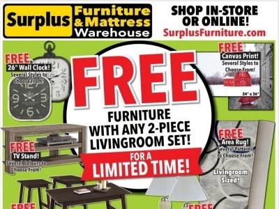 Surplus Furniture And Mattress Store Flyer Thumbnail