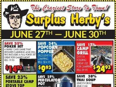 Surplus Herby's Outdated Flyer Thumbnail