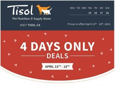 Tisol Pet Nutrition And Supply Stores Flyer Thumbnail
