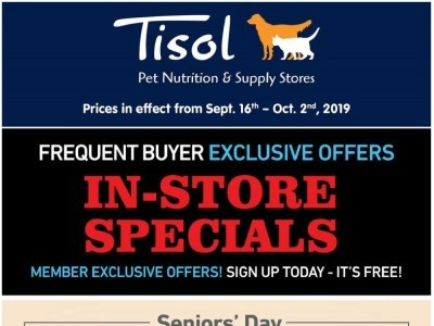 Tisol Pet Nutrition And Supply Stores Outdated Flyer Thumbnail