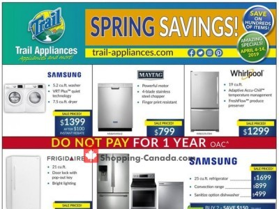 Trail Appliances Outdated Flyer Thumbnail