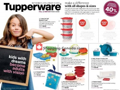 Tupperware  Outdated Flyer Thumbnail