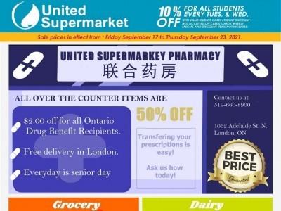 United Supermarket Flyer Thumbnail