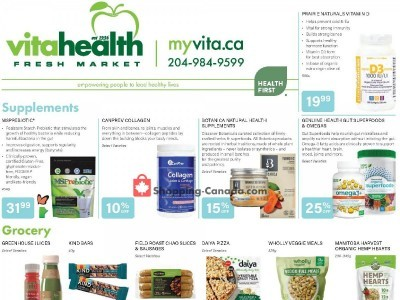 Vita Health Fresh Market Outdated Flyer Thumbnail