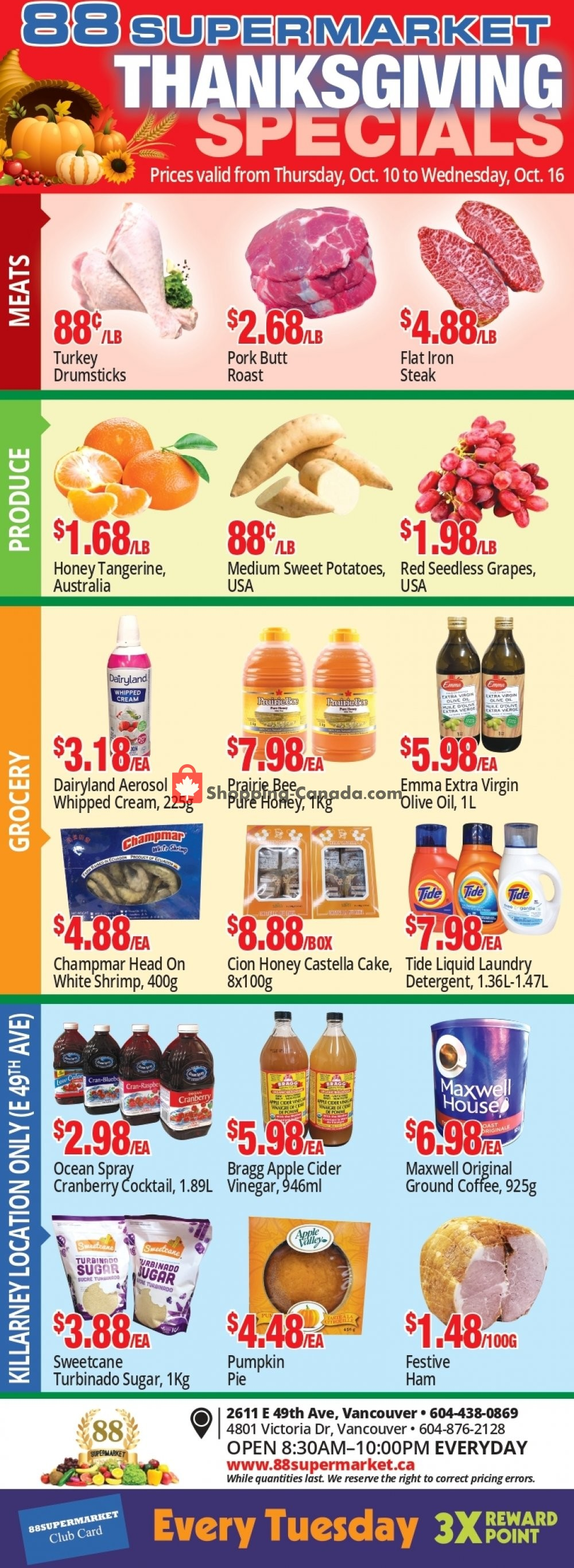 Flyer 88 Supermarket Canada - from Thursday October 10, 2019 to Wednesday October 16, 2019