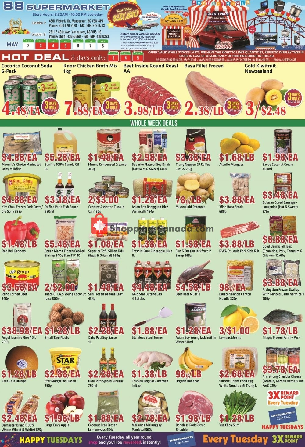 Flyer 88 Supermarket Canada - from Thursday May 2, 2019 to Wednesday May 8, 2019
