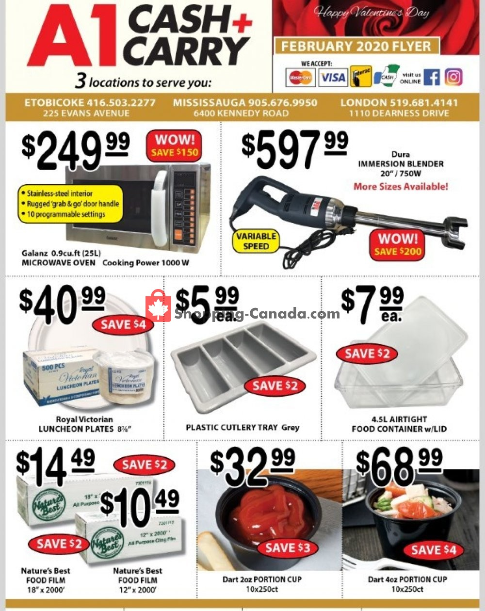 Flyer A1 Cash And Carry Canada - from Saturday February 1, 2020 to Saturday February 29, 2020