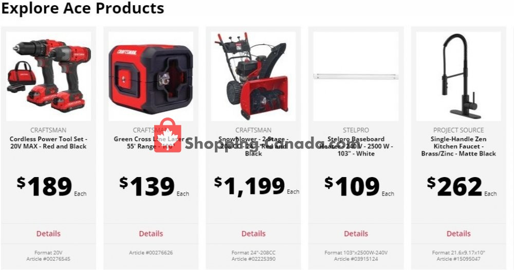 Flyer Ace Hardware Canada - from Tuesday June 2, 2020 to Monday June 29, 2020
