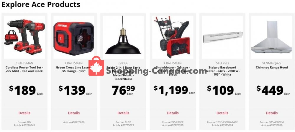 Flyer Ace Hardware Canada - from Monday April 27, 2020 to Sunday May 3, 2020