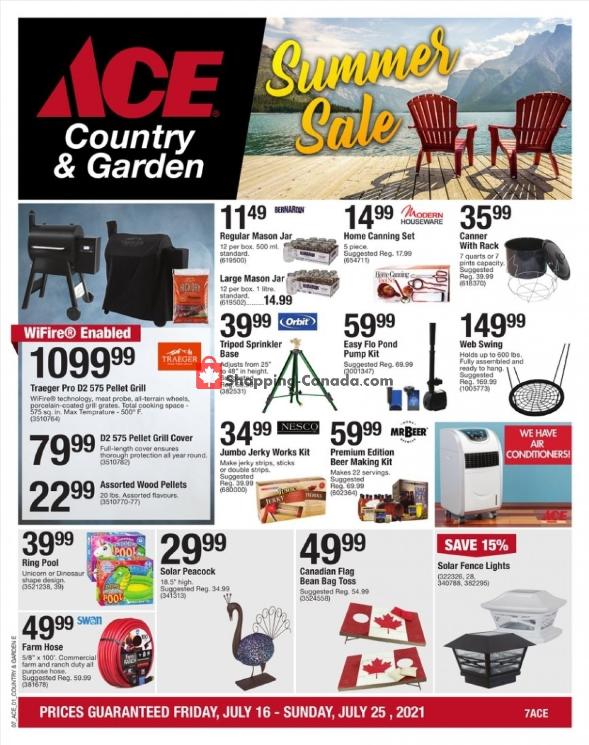 Flyer Ace Hardware Canada - from Friday July 16, 2021 to Sunday July 25, 2021
