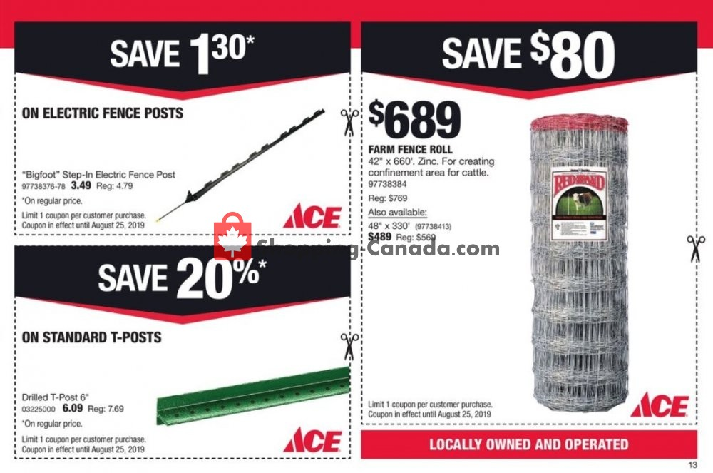 Flyer Ace Hardware Canada - from Thursday August 1, 2019 to Sunday August 25, 2019