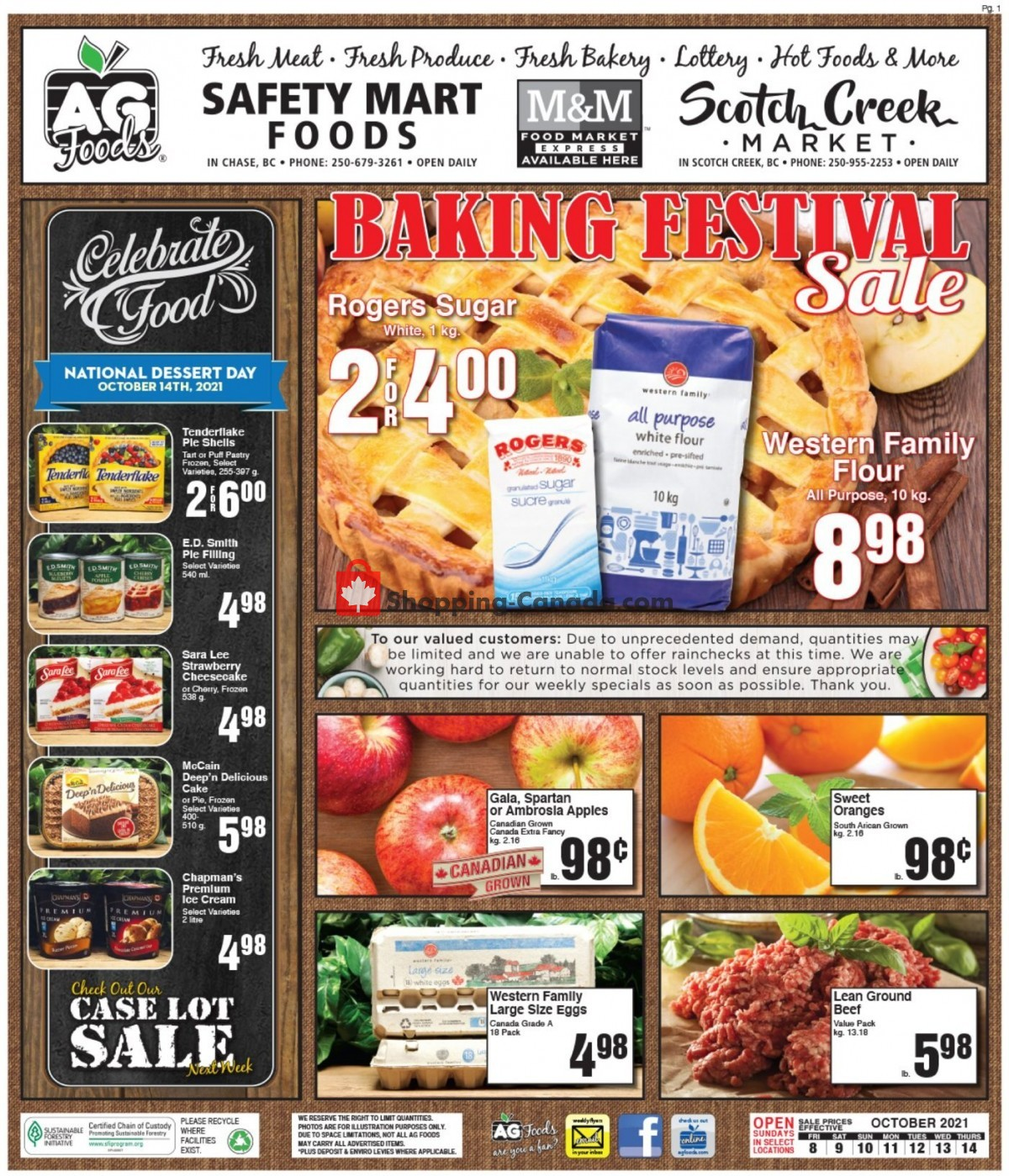 Flyer AG Foods Canada - from Friday October 8, 2021 to Thursday October 14, 2021