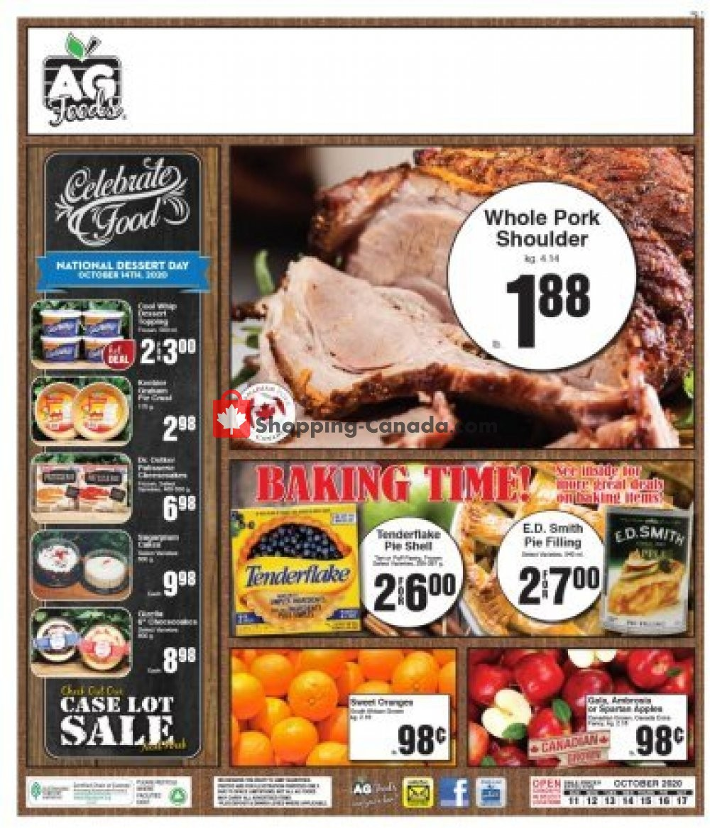 Flyer AG Foods Canada - from Sunday October 11, 2020 to Saturday October 17, 2020
