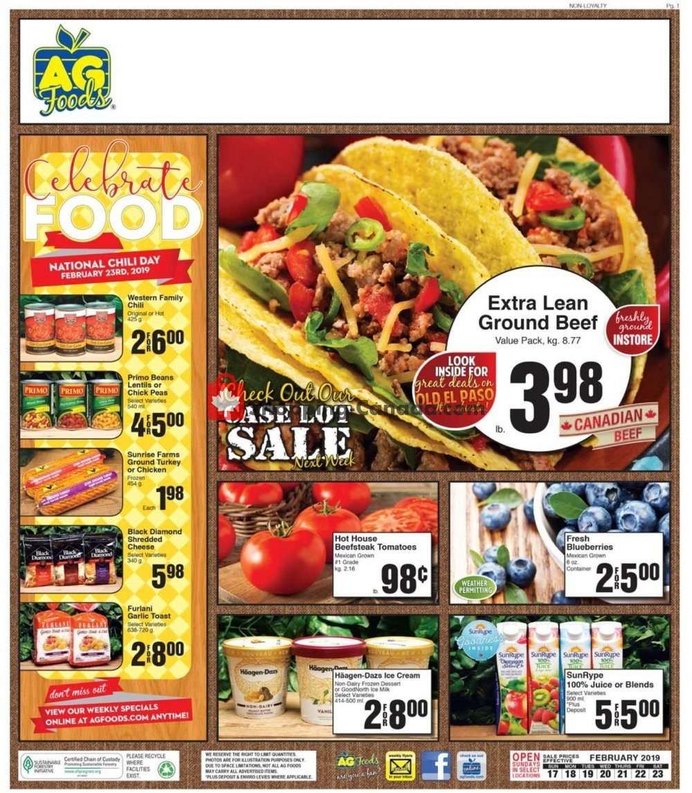 Flyer AG Foods Canada - from Sunday February 17, 2019 to Saturday February 23, 2019