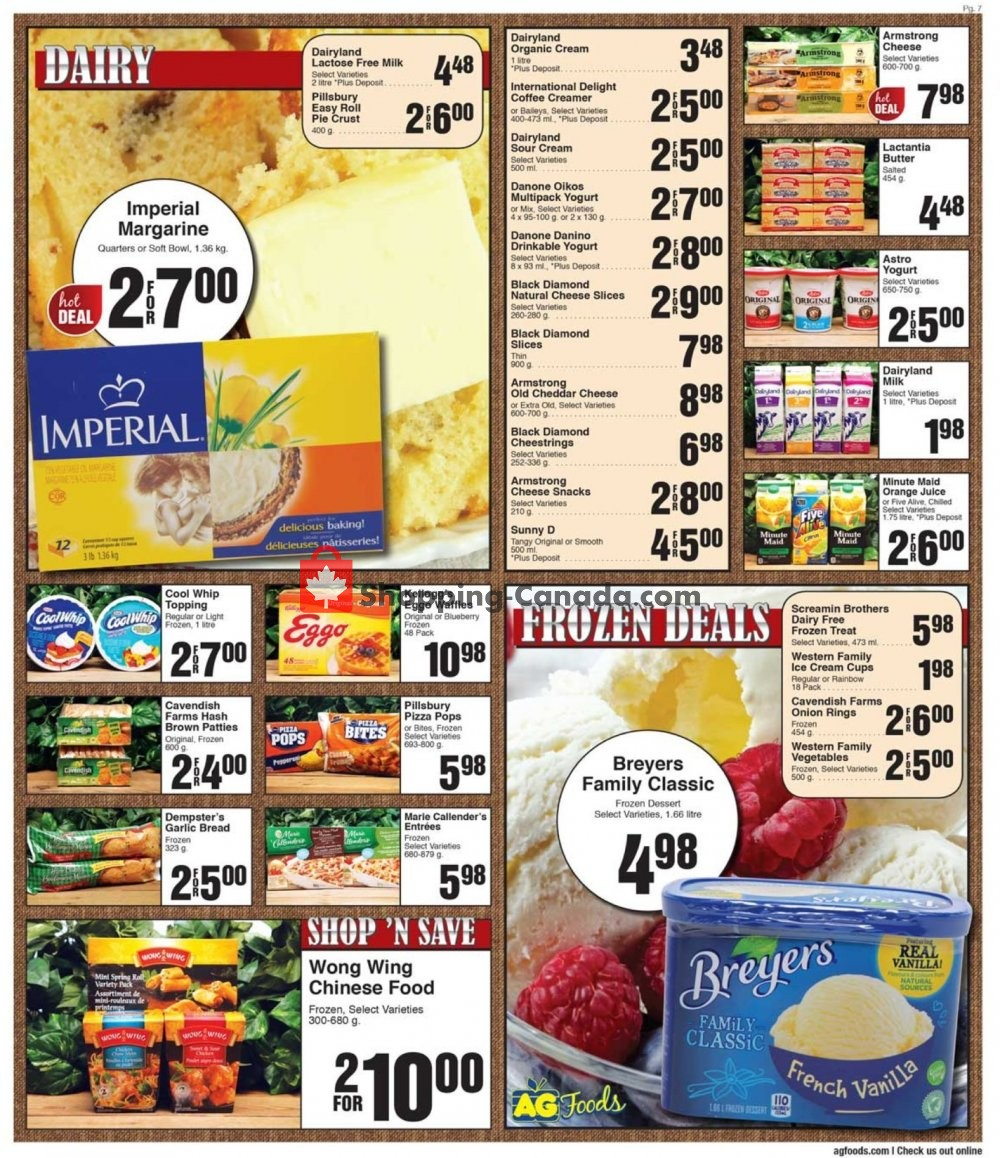 Flyer AG Foods Canada - from Sunday July 21, 2019 to Saturday July 27, 2019