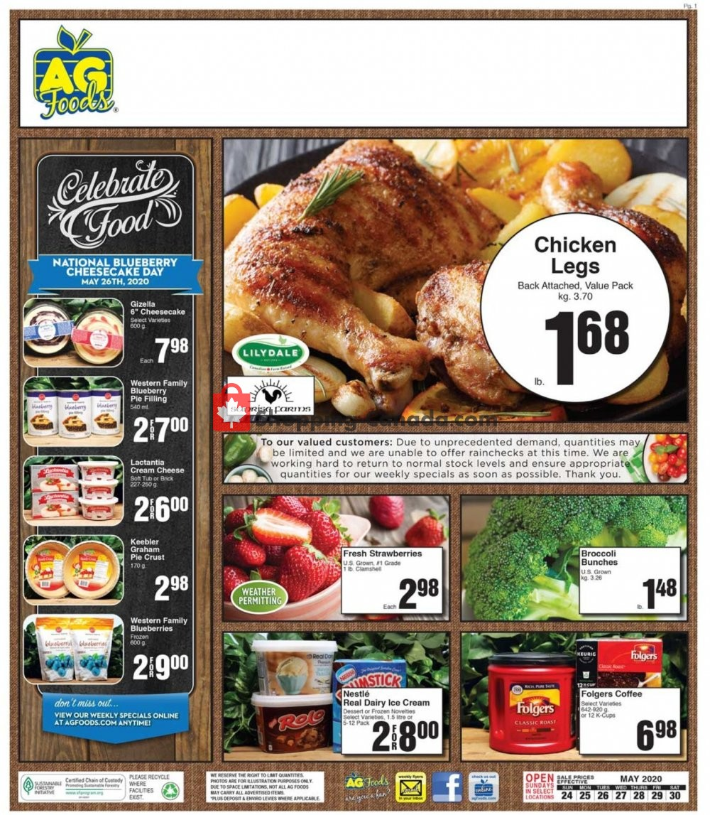Flyer AG Foods Canada - from Sunday May 24, 2020 to Saturday May 30, 2020