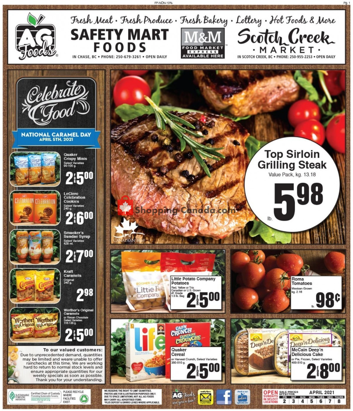 Flyer AG Foods Canada - from Friday April 2, 2021 to Thursday April 8, 2021
