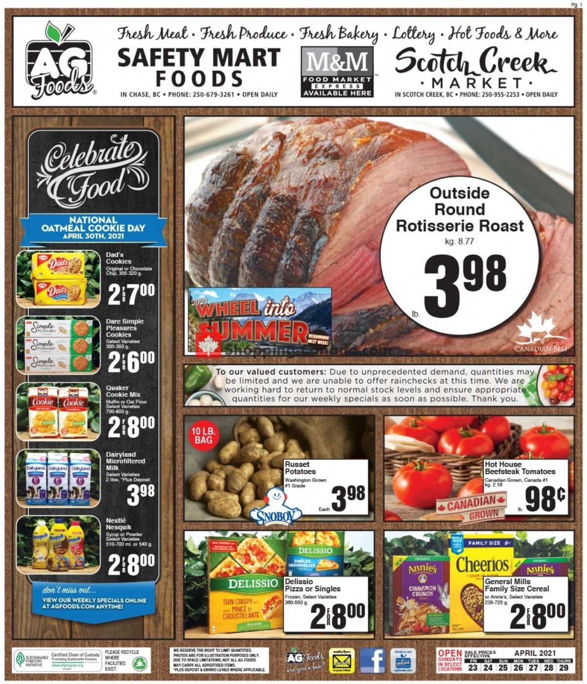 Flyer AG Foods Canada - from Friday April 23, 2021 to Thursday April 29, 2021