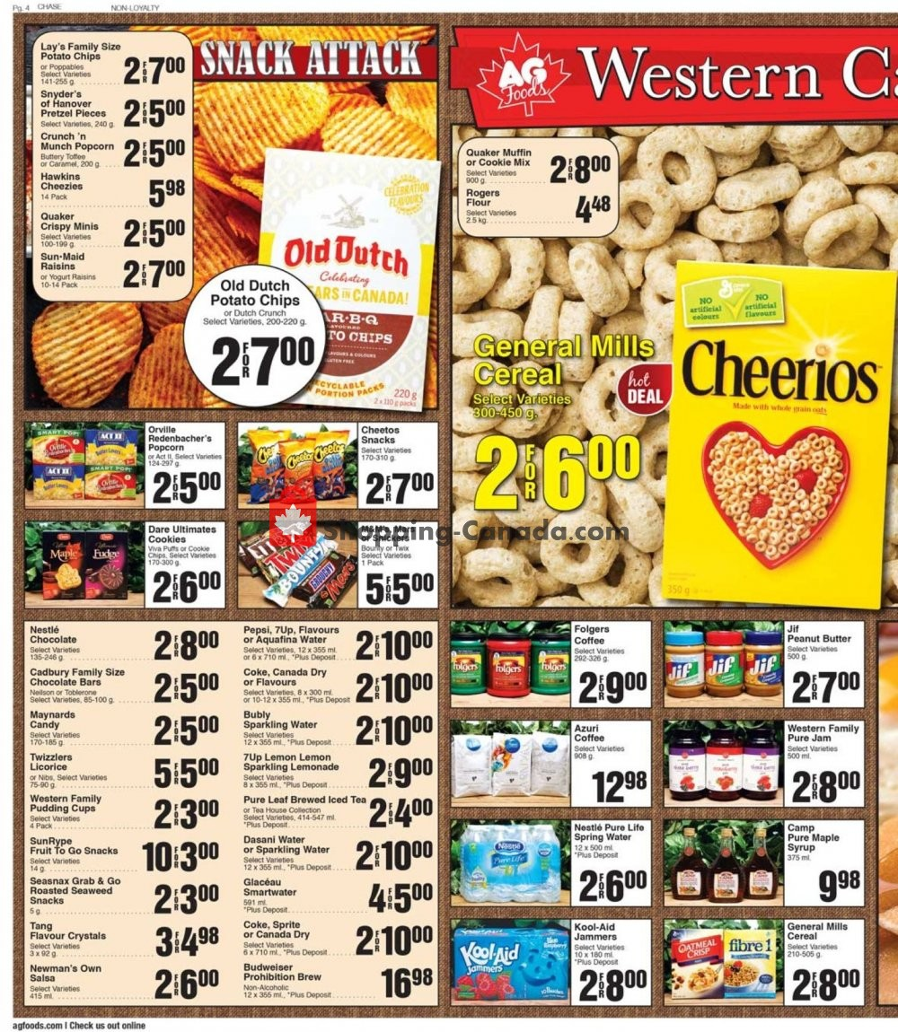 Flyer AG Foods Canada - from Friday August 9, 2019 to Thursday August 15, 2019