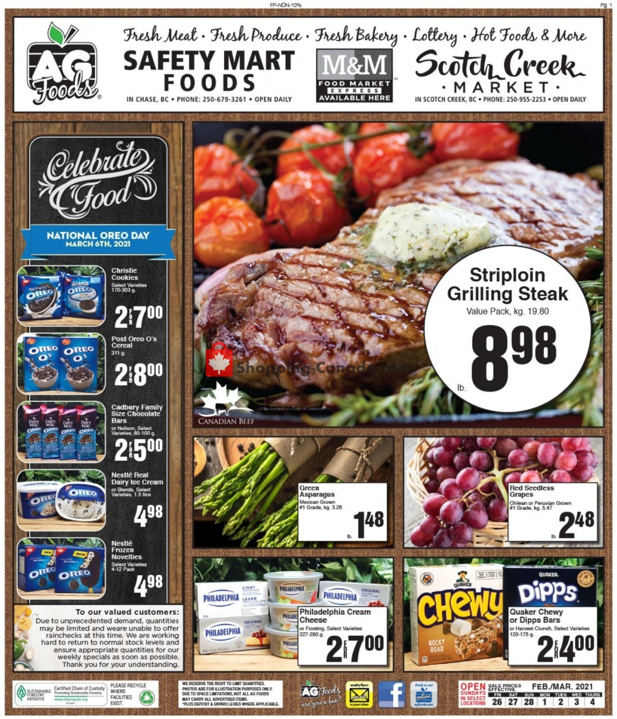 Flyer AG Foods Canada - from Friday February 26, 2021 to Thursday March 4, 2021