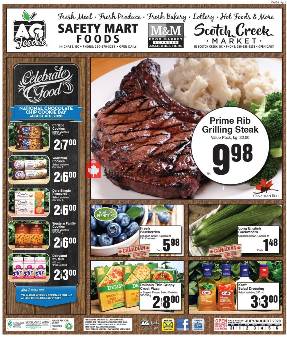 Flyer AG Foods Canada - from Friday July 31, 2020 to Thursday August 6, 2020