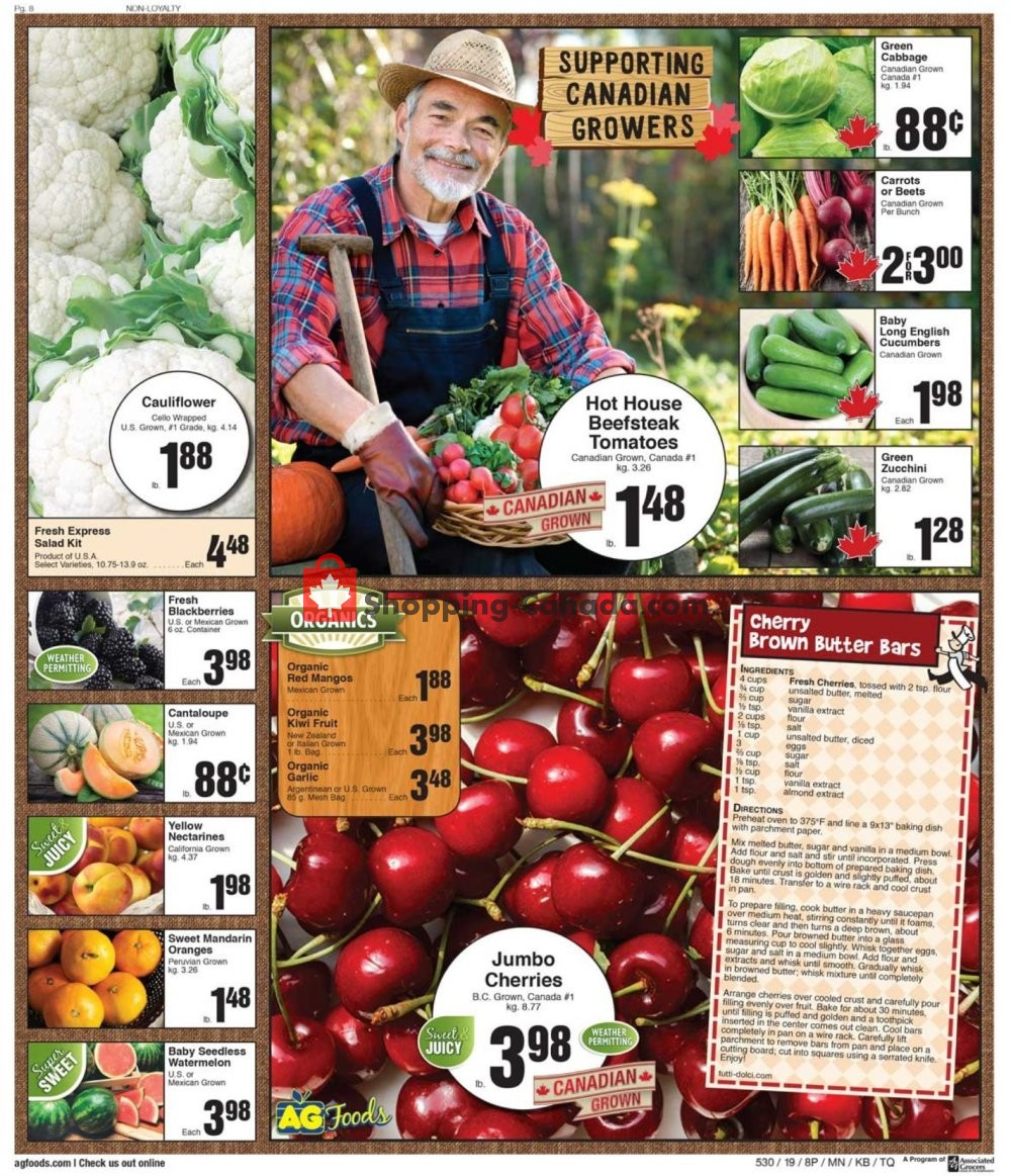 Flyer AG Foods Canada - from Friday July 19, 2019 to Thursday July 25, 2019