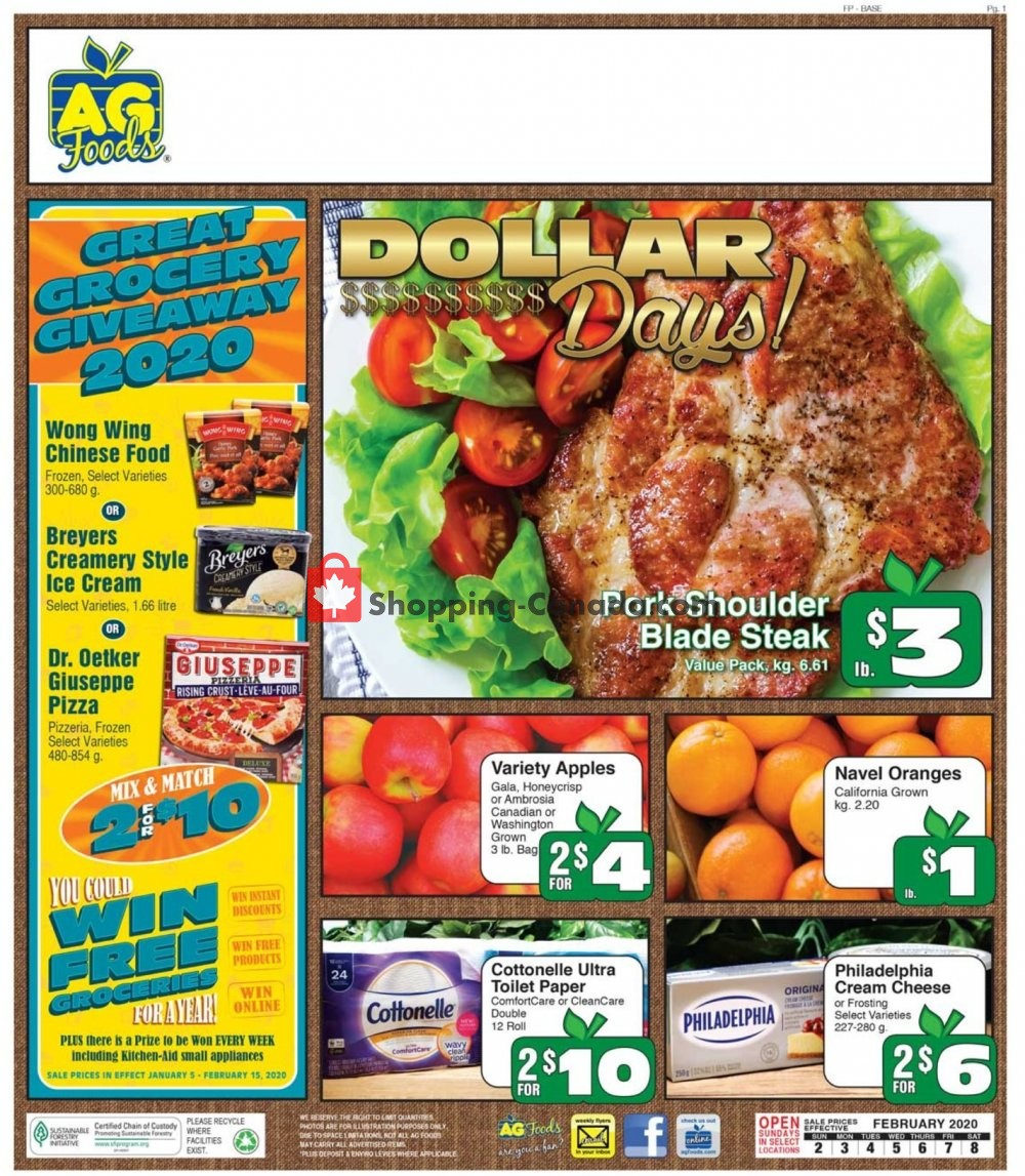 Flyer AG Foods Canada - from Sunday February 2, 2020 to Saturday February 8, 2020