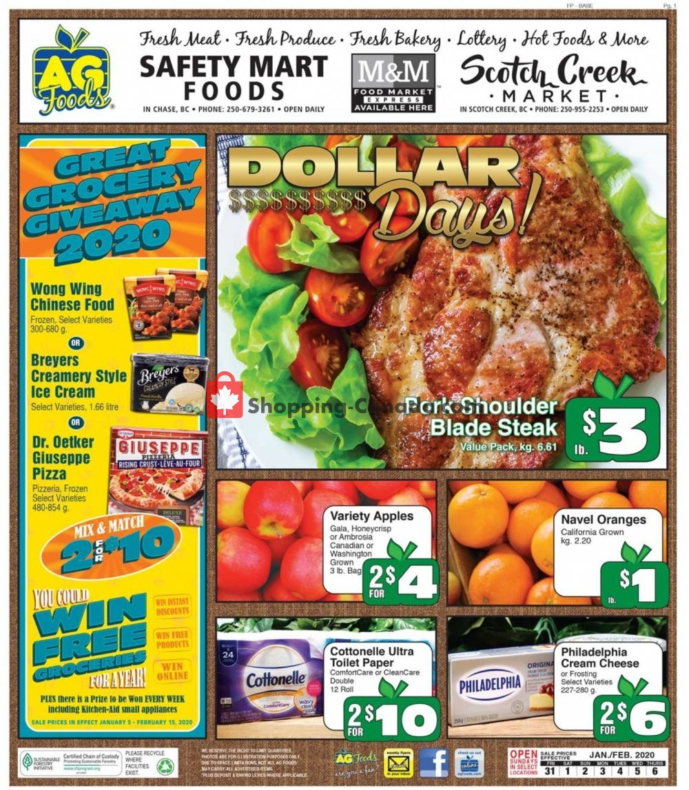 Flyer AG Foods Canada - from Friday January 31, 2020 to Thursday February 6, 2020