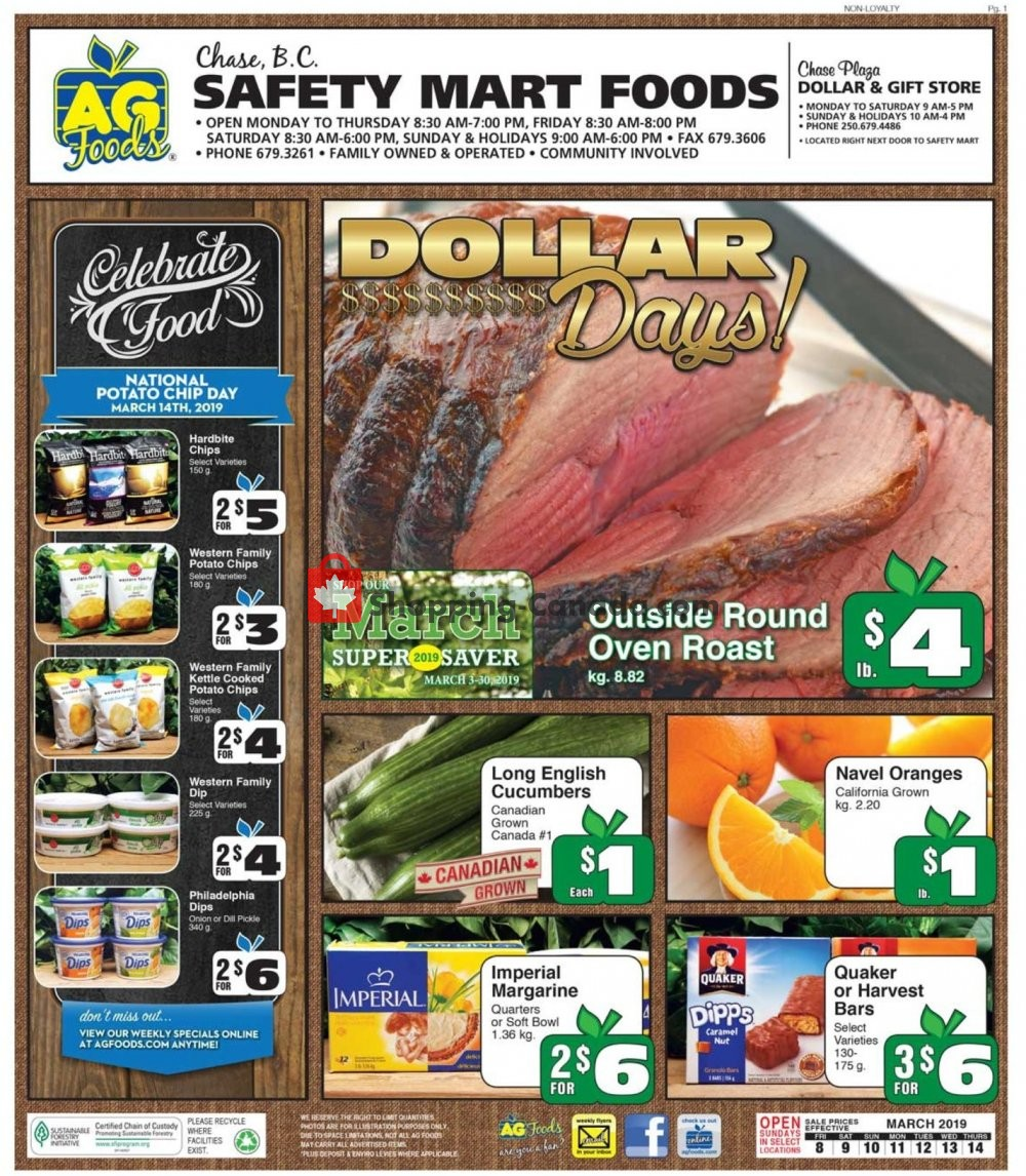 Flyer AG Foods Canada - from Friday March 8, 2019 to Thursday March 14, 2019