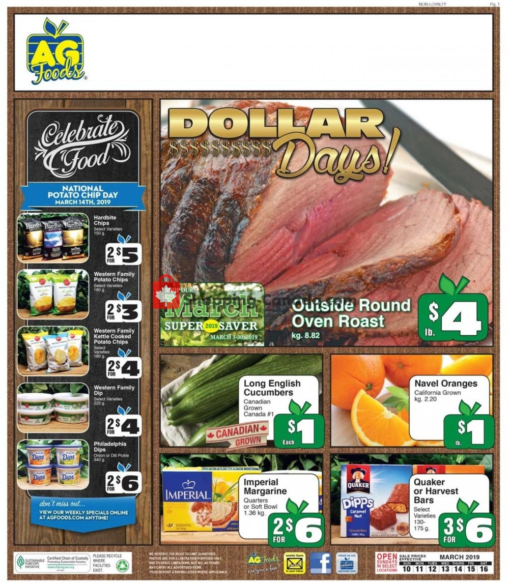 Flyer AG Foods Canada - from Sunday March 10, 2019 to Saturday March 16, 2019