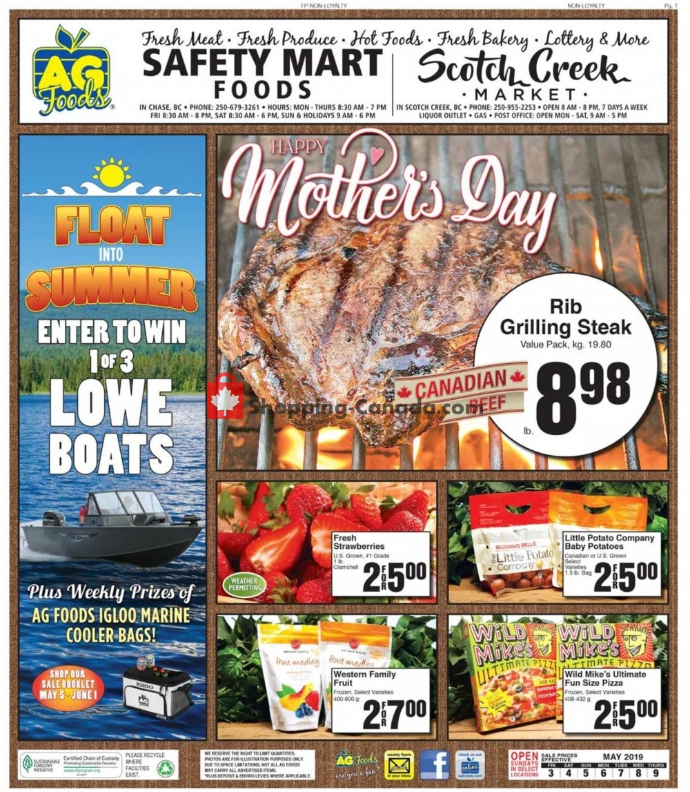 Flyer AG Foods Canada - from Friday May 3, 2019 to Thursday May 9, 2019