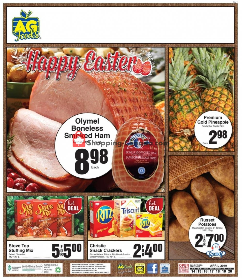 Flyer AG Foods Canada - from Sunday April 14, 2019 to Saturday April 20, 2019