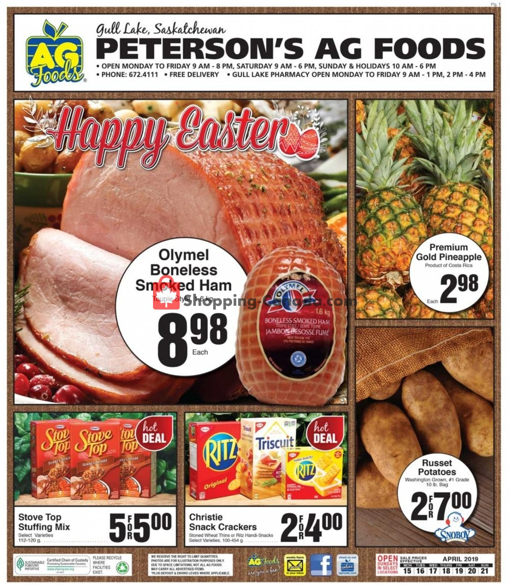 Flyer AG Foods Canada - from Monday April 15, 2019 to Sunday April 21, 2019