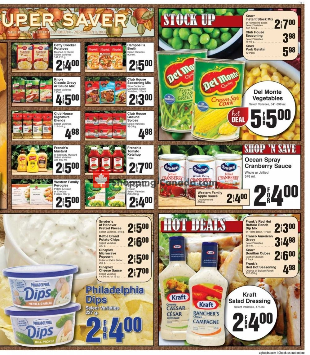 Flyer AG Foods Canada - from Sunday October 6, 2019 to Saturday October 12, 2019