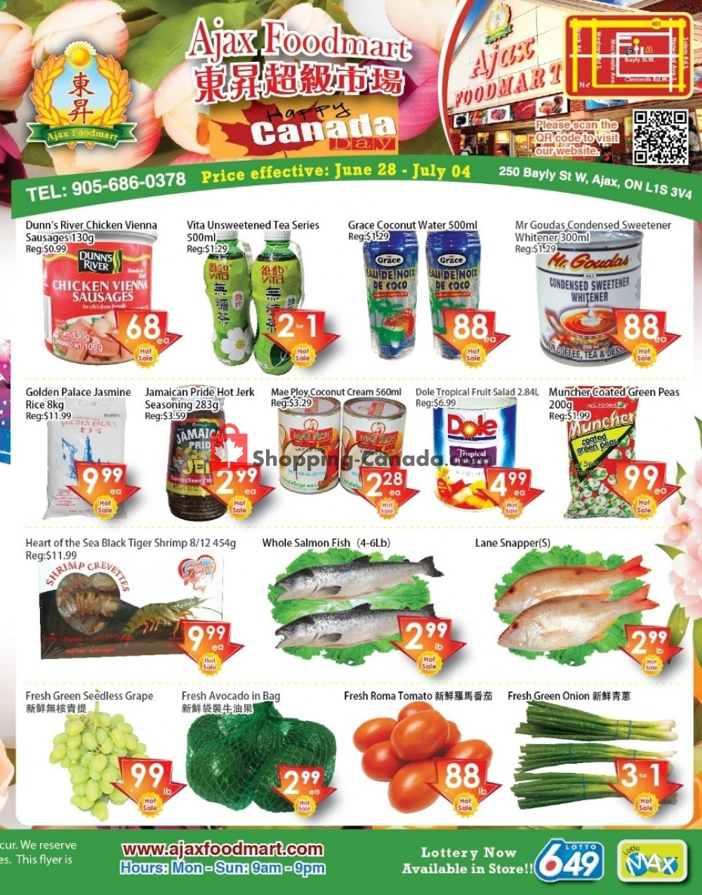 Flyer Ajax Foodmart Canada - from Friday June 28, 2019 to Thursday July 4, 2019