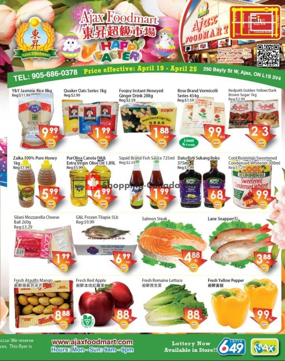 Flyer Ajax Foodmart Canada - from Friday April 19, 2019 to Thursday April 25, 2019