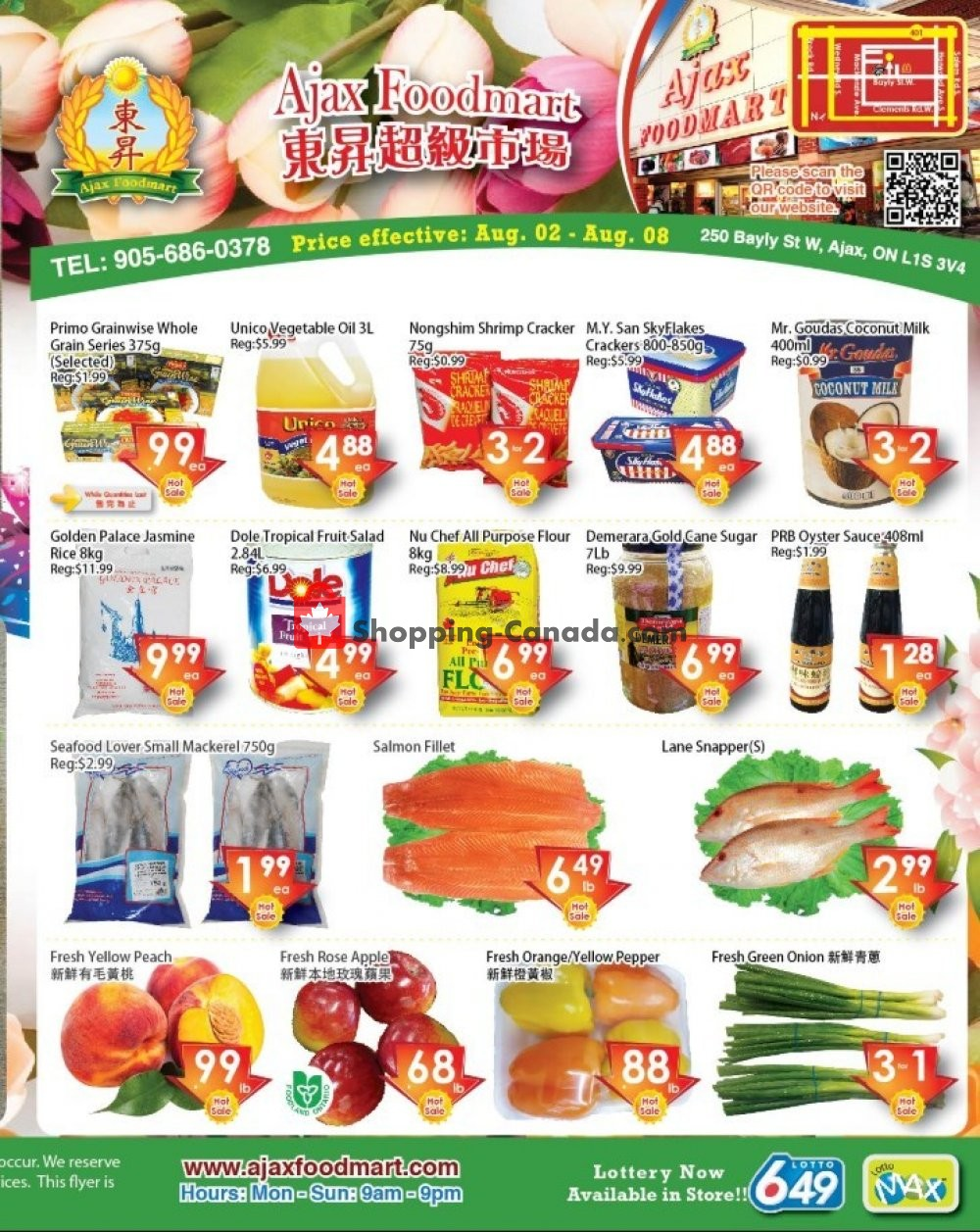 Flyer Ajax Foodmart Canada - from Friday August 2, 2019 to Thursday August 8, 2019