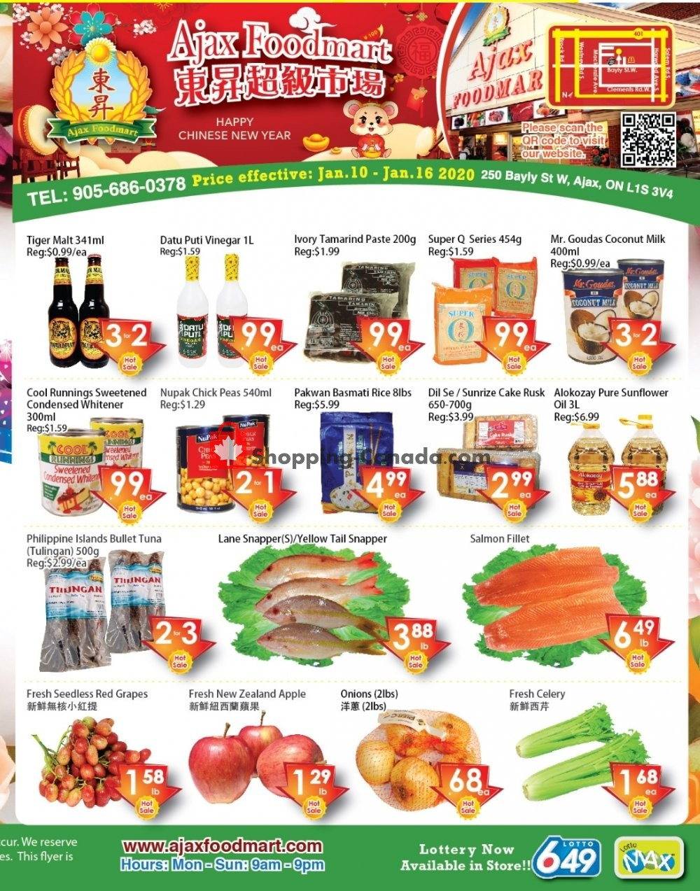 Flyer Ajax Foodmart Canada - from Friday January 10, 2020 to Thursday January 16, 2020