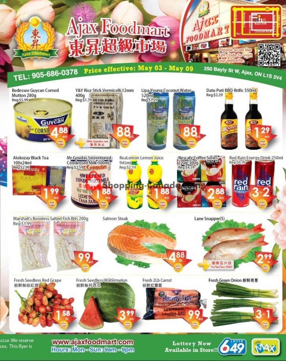 Flyer Ajax Foodmart Canada - from Friday May 3, 2019 to Thursday May 9, 2019