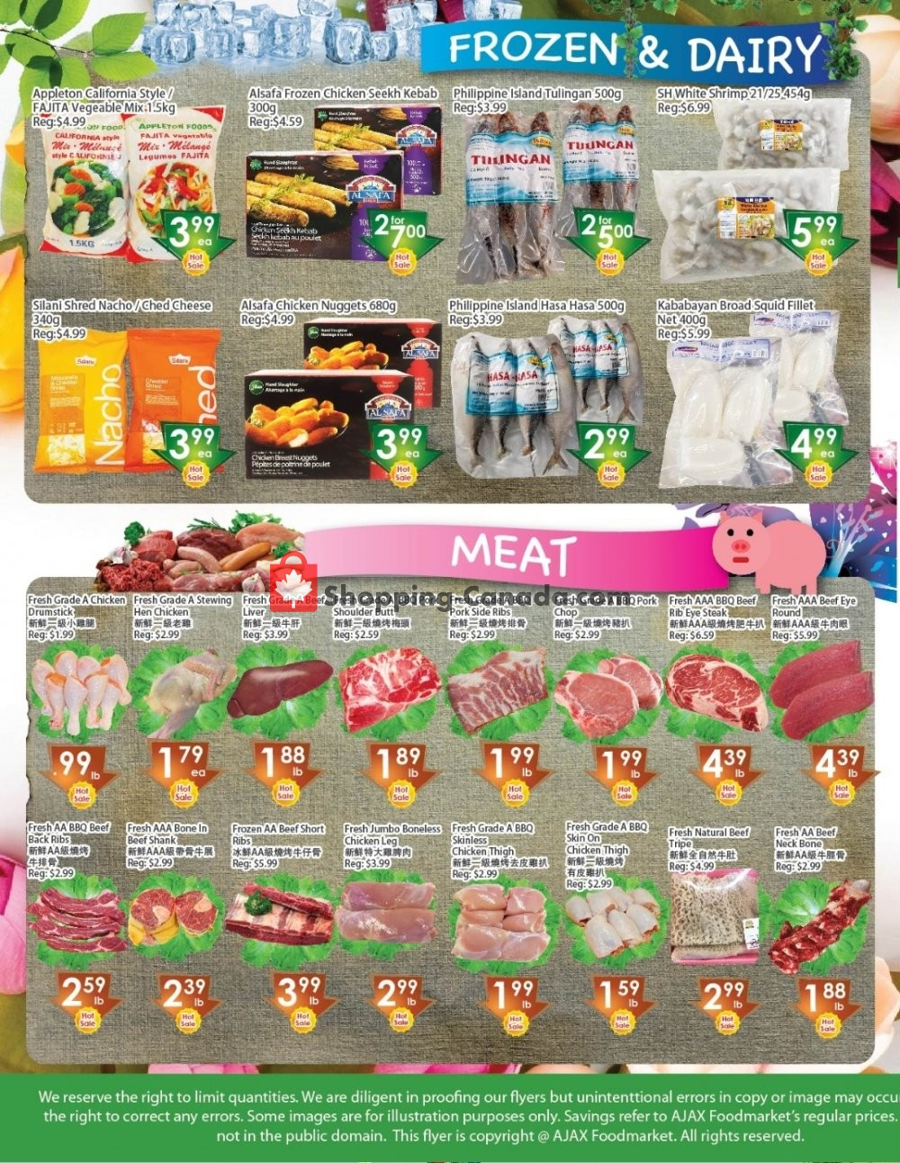 Flyer Ajax Foodmart Canada - from Friday November 8, 2019 to Thursday November 14, 2019