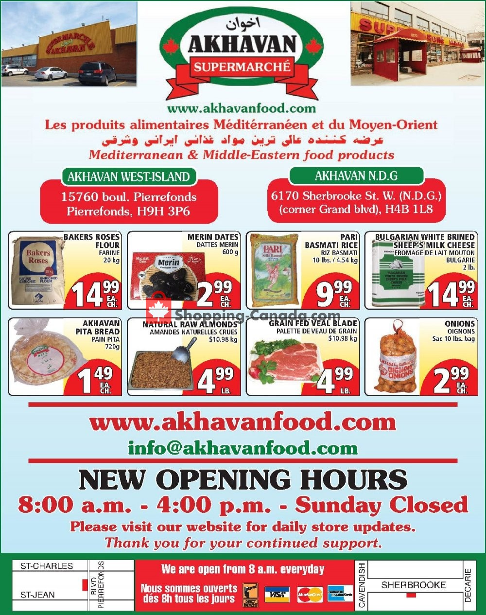 Flyer Akhavan Food Supermarche Canada - from Wednesday May 27, 2020 to Tuesday June 2, 2020